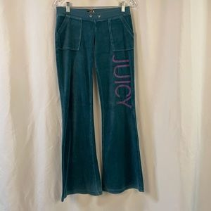 Vintage juicy couture velour flare bottom